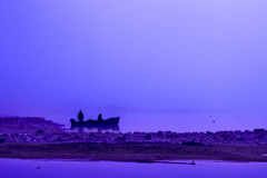 Ein blauer Morgen lizenzfreie stockbilder