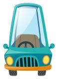 Ein blaues Auto auf weißem Hintergrund Lizenzfreies Stockbild