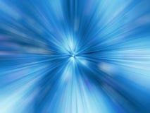 Ein blaues Farbdesign mit einer Explosion Lizenzfreie Stockfotos