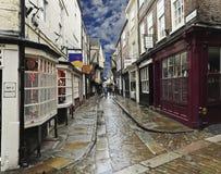 Ein Blick auf den heillosen Durcheinander, York, England Lizenzfreie Stockfotografie