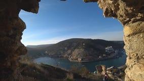 Ein Blick auf die Seebucht stock footage