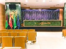Ein Blick innerhalb des Fußballstadions von Màlaga stockbilder
