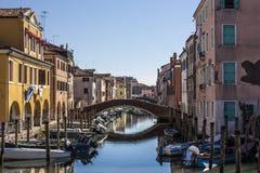 Ein Blick von Venedig Stockfotografie