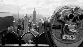 Ein Blick zu Manhattan-` s Skylinen lizenzfreies stockfoto