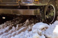 Ein Blizzard schlägt New York Lizenzfreies Stockbild