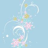 Ein Blumenauslegung-Hintergrund lizenzfreie abbildung