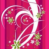 Ein Blumenauslegung-Hintergrund Stockfotos