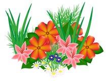 Ein Blumenbeet von Blumen Lizenzfreie Stockfotografie
