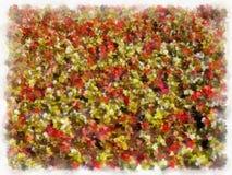 Ein Blumenhintergrund - stilisiert zum Malen Lizenzfreie Stockbilder