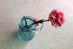 Ein Blumenstrauß der Gartennelke, luftgetrockneter Ziegelstein rgb lizenzfreies stockbild