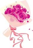 Ein Blumenstrauß der Rosen Stockfoto