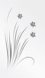 Ein Blumenstrauß der silbernen Blumen stock abbildung