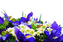 Ein Blumenstrauß und eine künstliche Basisrecheneinheit Stockbilder