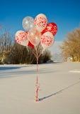Ein Blumenstrauß von Ballonen Stockbilder