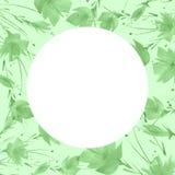 Ein Blumenstrauß von grünen Blumen, Löwenzahn, Mohnblume ein Spritzen der Farbe Aquarellzeichnung, Illustration Grußkarte, Einlad lizenzfreie abbildung