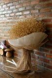 Ein Blumenstrauß von trockenen Blumen stockbilder
