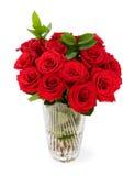 Ein Blumenstrauß von den Rosen lokalisiert auf Weiß Lizenzfreie Stockfotos