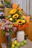 Ein Blumenstrau? von Sonnenblumen stockbilder