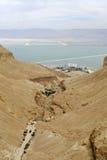 Ein Bokek峡谷。 库存照片