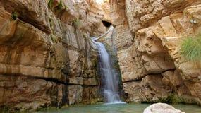 Ein Bokek vattenfall Royaltyfri Bild