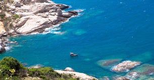 Ein Boot auf dem Strand, Sohn Hai Mui Dinh- Lizenzfreie Stockfotos
