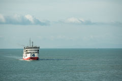 Ein Boot machte am Hafen der samui Insel fest Stockfoto