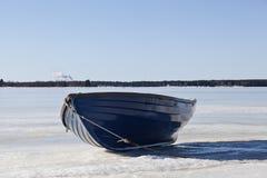 Ein Boot von der Front Stockfoto