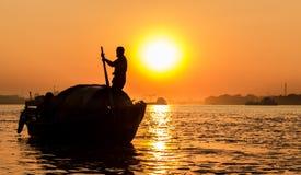 Ein Boots-Ruderer… Lizenzfreie Stockfotos