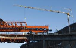 Ein Brückenbaubauvorhaben Lizenzfreie Stockfotografie