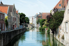 Ein Brügge-Kanal stockfotografie