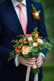 Ein Brautblumenstrauß von Rosen Stockbild
