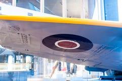 Ein britisches Royal Air Force-roundel allgemein verwendet auf WWII auch WW-2 oder Kampfflugzeug des Zweiten Weltkrieges stockbild
