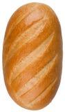 Ein Brotlaib lokalisiert auf dem weißen Hintergrund Lizenzfreies Stockbild