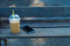 Ein Bruch vom Sozialkaffeemorgen und -übung lizenzfreies stockbild