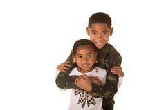 Ein Bruder und eine Schwester Lizenzfreies Stockbild