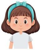 Ein brunette Mädchencharakter vektor abbildung