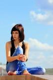 Ein Brunettemädchen Lizenzfreies Stockfoto