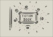 Ein Buchdesign für Fiktionsbuch Lizenzfreie Abbildung