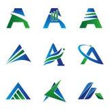 Ein Buchstabe-Konzept-Logo Stockbilder