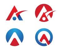 Ein Buchstabe Logo Template Stockfoto