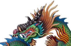Ein bunter Chinese Dragon Isolated Stockfotografie