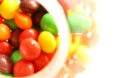 Ein buntes von Bonbons oder von Süßigkeit Lizenzfreie Stockbilder