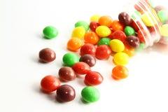 Ein buntes von Bonbons oder von Süßigkeit Stockfotografie