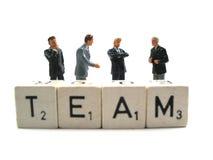 Ein businessteam, das eine Sitzung abhält Stockbild