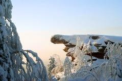 Ein Butte in der Nähe von dem Usva-Dorf, Dauerwelleregion, Russland Stockbilder