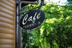 Ein Cafézeichen Stockfotografie