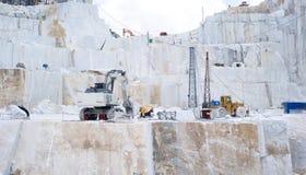Ein Carrara-Marmorsteinbruch Lizenzfreie Stockfotos