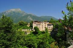 Ein castel in Belluno stockbilder