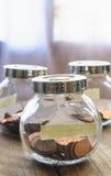Ein Cent-Münzen Stockfotos