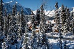 Ein Chalet in Rocky Mountains Lizenzfreie Stockbilder